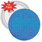 Textured Blue & Purple Abstract 3  Button (10 pack)