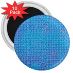 Textured Blue & Purple Abstract 3  Button Magnet (10 pack)