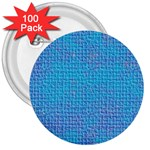 Textured Blue & Purple Abstract 3  Button (100 pack)