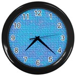 Textured Blue & Purple Abstract Wall Clock (Black)