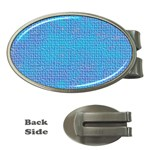 Textured Blue & Purple Abstract Money Clip (Oval)