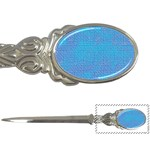 Textured Blue & Purple Abstract Letter Opener