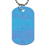 Textured Blue & Purple Abstract Dog Tag (Two-sided)