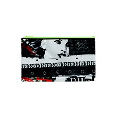 Punk Chick Cosmetic Bag (xs) by ArtistRoseanneJones