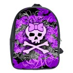 Purple Girly Skull School Bag (XL)