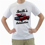 Red Pick Up Garage Smiths Automotive Men s T-Shirt (White)