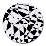 Shattered Life In Black & White 8  Mouse Pad (Round)
