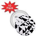 Shattered Life In Black & White 1.75  Button (10 pack)