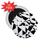 Shattered Life In Black & White 2.25  Button Magnet (10 pack)