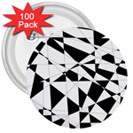 Shattered Life In Black & White 3  Button (100 pack)