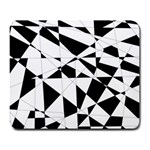 Shattered Life In Black & White Large Mouse Pad (Rectangle)