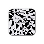 Shattered Life In Black & White Drink Coaster (Square)