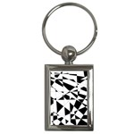 Shattered Life In Black & White Key Chain (Rectangle)