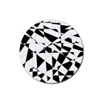 Shattered Life In Black & White Drink Coaster (Round)