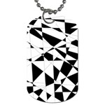 Shattered Life In Black & White Dog Tag (One Sided)