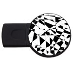 Shattered Life In Black & White 2GB USB Flash Drive (Round)