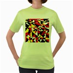 Shattered Life With Rays Of Hope Women s T-shirt (Green)