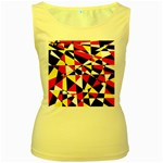 Shattered Life With Rays Of Hope Women s Tank Top (Yellow)