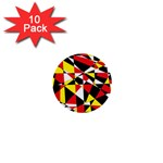 Shattered Life With Rays Of Hope 1  Mini Button (10 pack)