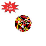 Shattered Life With Rays Of Hope 1  Mini Button Magnet (100 pack)
