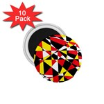 Shattered Life With Rays Of Hope 1.75  Button Magnet (10 pack)
