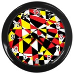 Shattered Life With Rays Of Hope Wall Clock (Black)