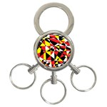 Shattered Life With Rays Of Hope 3-Ring Key Chain
