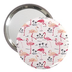 Flamingo Pattern 3  Handbag Mirrors by Contest580383