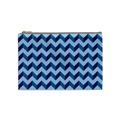 Modern Retro Chevron Patchwork Pattern Cosmetic Bag (medium)  by creativemom