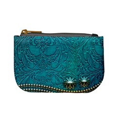 Wonderful Decorative Design With Floral Elements Mini Coin Purses by FantasyWorld7