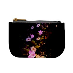 Awesome Flowers With Fire And Flame Mini Coin Purses by FantasyWorld7