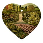 Country Waterfall by Ave Hurley - Ornament (Heart)