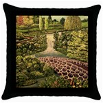Country Waterfall by Ave Hurley - Throw Pillow Case (Black)