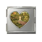 Country Waterfall by Ave Hurley - Mega Link Heart Italian Charm (18mm)
