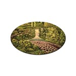 Country Waterfall by Ave Hurley - Sticker Oval (10 pack)
