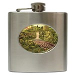 Country Waterfall by Ave Hurley - Hip Flask (6 oz)