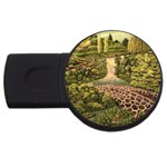 Country Waterfall by Ave Hurley - USB Flash Drive Round (2 GB)
