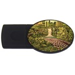 Country Waterfall by Ave Hurley - USB Flash Drive Oval (1 GB)