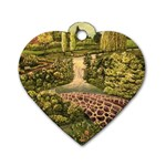 Country Waterfall by Ave Hurley - Dog Tag Heart (Two Sides)