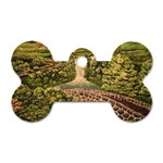 Country Waterfall by Ave Hurley - Dog Tag Bone (One Side)