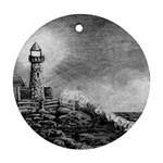 Frank Clark Lighthouse -AveHurley ArtRevu.com- Ornament (Round)