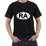 RA - Argentina Euro Oval Men s T-Shirt (Black)