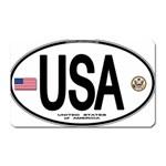 USA Euro Oval Magnet (Rectangular)