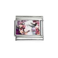 White Holy Bible Spring Flowers Christian Religious Italian Charm (9mm) from DesignMonaco.com Front