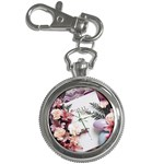 White Holy Bible Spring Flowers Christian Religious Key Chain Watch