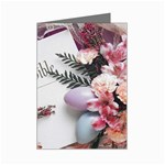 White Holy Bible Spring Flowers Christian Religious Mini Greeting Cards (Pkg of 8)