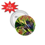 Spring Flowers in Bloom Fractal 1.75  Button (10 pack)