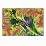 Spring Flowers in Bloom Fractal Postcard 4  x 6