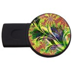 Spring Flowers in Bloom Fractal USB Flash Drive Round (2 GB)