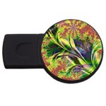 Spring Flowers in Bloom Fractal USB Flash Drive Round (1 GB)